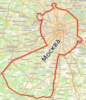 Границы Москвы и Московской области