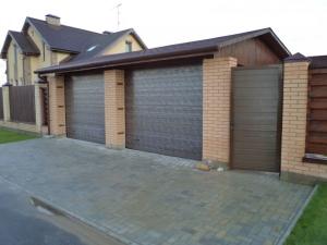 Строительство гаража вместо забора