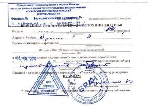 Справка из ПНД и НД – что это за документы?